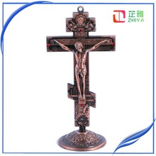 Supply gold orthodox cross for small size crafts