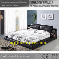 Fashion hot selling children soft bed with side