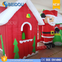 2015 Hot Sale Outdoor Inflatable Movable Christmas House Decorations for Sale