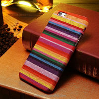 2015 hot new colorful rainbow fabric PC case for Iphone 6 4.7 5.5 inch phone