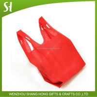 High quality T-shirt non woven shopping bag non woven vest bag