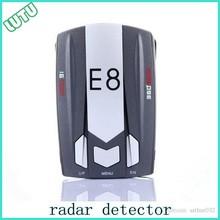 Hot sale flow radar detection car anti police radar detector E8 laser motion detectors speed gun radar 360 degree signals