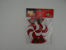 China manufacturer embossed felt christmas candy popular fabric xmas tree ornaments