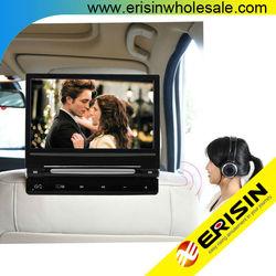 "Erisin ES398 9"" HD LCD Car Monitor DVD Games FM Stereo USB"