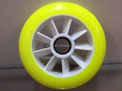 2015 new desgin inline skate wheel, polyurethane speed racing skate wheel 110mm