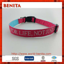 2016 Personalized embroidery logo dog collar