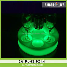 2012 fashion Party goods led flashing fruit tray with PS material