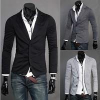 2013 new explosion models buckle small suit two men Slim Korean X01