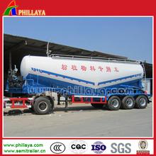 2-4 eixos Material em pó tanque Semi reboque / amplamente usado em massa cimento petroleiro caminhão com Volume opcional
