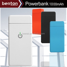 Mini Mobile phone battery charger Power bank 1000mAh with 8gb memory and usb cable