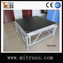 Exhibition Lighting raised floor,portable wooden platform stage for trade show