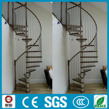 Home use PVC handrail spiral stairs designs