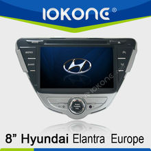 In dash 2 din GPS navigation Touch screen Car DVD player for Hyundai Elantra Europe 2011-2012