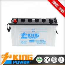 good quality Dry charged lead acid car starting battery N100