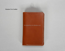 Leather men's travel purse,wallet with card holder, passport pocket wallet