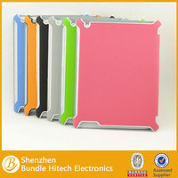 PU book leather wallet case for ipad air with mix color