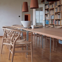 Solid beech wood dining chair made in china hans wegner wishbone chair replica wooden Y chair