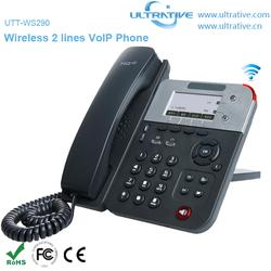 2 Lines WiFi VoIP Phone Wireless IP Phone Enterprise HD Wireless SIP Phone