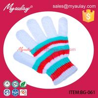 2015 Factory wholesale High Quality exfoliating Nylon top turkish bath glove for sedex audit BG-061
