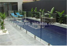 glass swimming pool/glass pool fence
