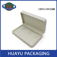 Wholesale big jewelry box for ring necklace/fake pu necklace box/leather ring box for sale