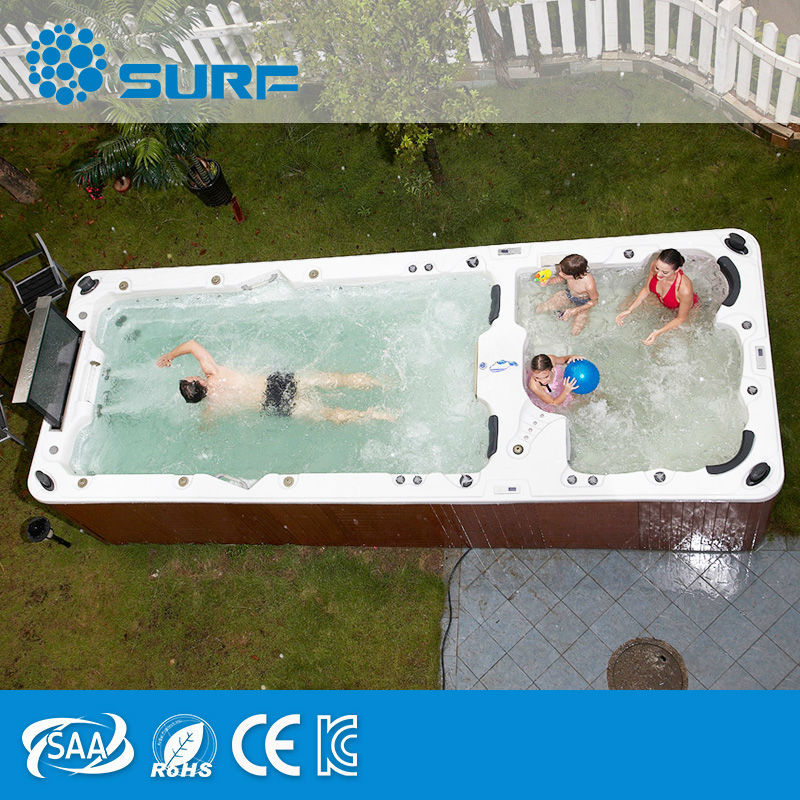 Large Outdoor Family Spa Swimming Pool Endless Pool With Sex TV