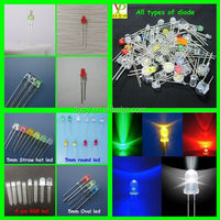 Free Samples LED diode: oval, square, rectangular, stawhat, flat top, 10mm, 8mm, 5mm,3mm, 2mm, 1.8mm in many colors