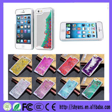 Newest Transparent Plastic Bling 3D Moving Liquid Glitter Star Case For Iphone 6 4.7 Inch