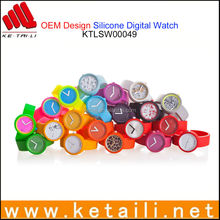 MADE IN CHINA CUSTOM DESIGN SILICONE WRIST WATCH FACTORY
