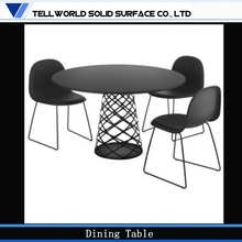 2015 New Design Top manufactuer artificial stone 4 seater dining table