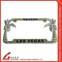 Custom Suitable Car Metal License Plate Frames,material with chrome ,plastic,zinc alloy