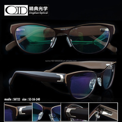 2015 new design women optical frames acetate & stainless optical frame S6722