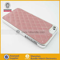 "chrome leather cell phone cases for iphone 5"" original,new product phone case"