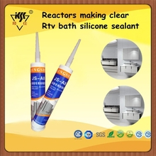 Reactors making clear rtv bath silicone sealant
