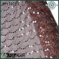 flower pattern bead embroidered fabric