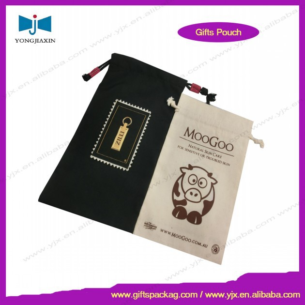 eco friendly 100% cotton pouch drawstring hot sale