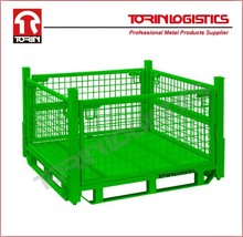 Welded Pallet Steel Storage Collapsible High Quality Wire Mesh Cages(L1140*W1140 mm/OEM)