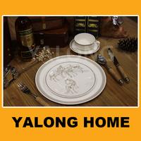 Chaozhou 40% Bone Ash High-end Fine Bone China Dinner Set Dinnerware China Supplier