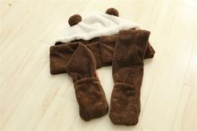 Latest hot selling!! simple design sheep custom plush scarf fine workmanship