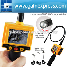 """VID-5 Industrial 2.4""""de video boroscopio del coche tubo de inspección 10mm cámara endoscopio 180 de grados de rotación 2 led"""