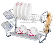 Alibaba China Haisong Adjustable Plate Holder Antique Metal Wire Shelves Dish Rack
