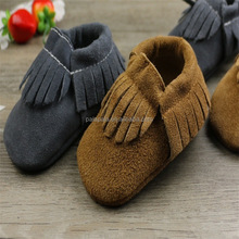 New fashion suede baby shoes Genuine cow leather fringe baby moccasin soft sole baby shoes for girls boys