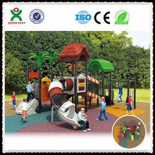 Kindergarten swing and childrens slides, cheap plastic playhouses for kids, amusment park equipment/ QX-021B