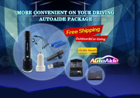 Car Gift items! Car charger,Driving flashlight, bluetooth headphone, charger cable