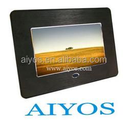 wholesale 7 inch digital photo frame Metal Boarder Multi Function LCD Digital Photo Frame