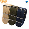 NATO/ZULU strap G10 Military Watch Strap Band Strong Heavy Duty Nylon Divers Brushed Buckle