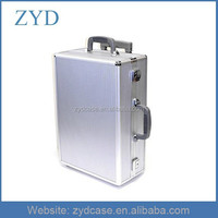 Aluminum Lockable Luggage Case Silver Rolling Tool Box, ZYD-TL032