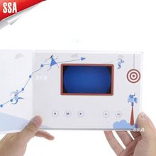SSA 2.4 Inch Video Player Brochure With Your Creative Design Idea
