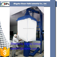 2 ton clear big bags with spout opening