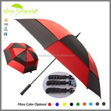 Golf umbrella Rain Gear Promotional Red and Black Windproof Double Canopy Golf Umbrella